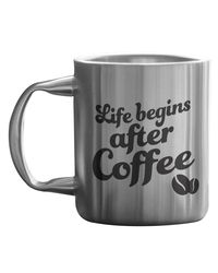 Life Begin After Coffee Stainless Mug