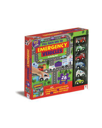 Pull Back And Go Emergency Vehicles Activity Set, na