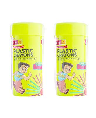 Plastic Crayons 26 Shades Tin Pack