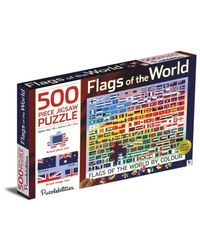 Flags Of The World By Colour 500 Piece Jigsaw Puzzle, multi