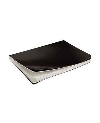 Rubberband Natural notebook - A5, Black, 192 pages, checks