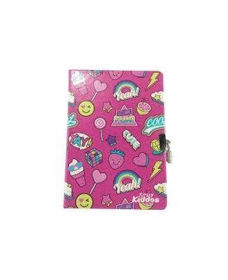 SMILY KIDDOS Fantasy Lockable Notebook Pink, pink