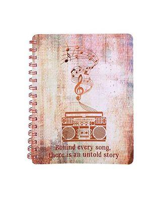 Musical whirlwind wiro notebk, multicolour