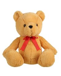 Mirada Teddy Bear W Red Bow - Brown 35Cm, Age 3 To 5 Years