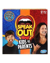 Hasbro Games Speak Out Kids Vs Parents, Age 8+
