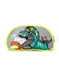 Party Dino Single Compartment Pencil Pouch, multicolored