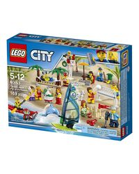 Lego City Town People Pack Fun At The Beach Building Blocks, Age 5+