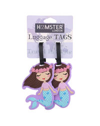 Hamster London Luggage Tag Mermaid, mix
