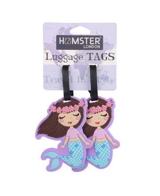 Hamster London Luggage Tag Mermaid, mix