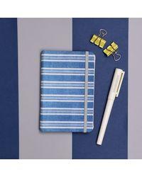 Sober Stripes Notebook, blue