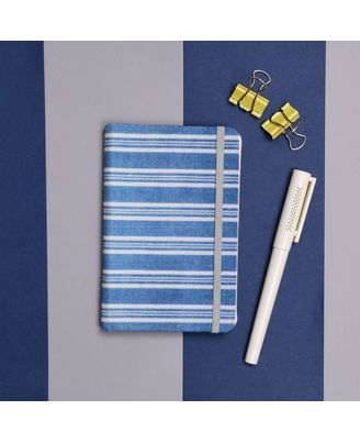 Sober Stripes Notebook, blue