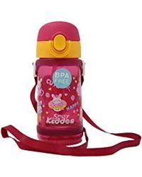 Smily donut water bottle pink, pink