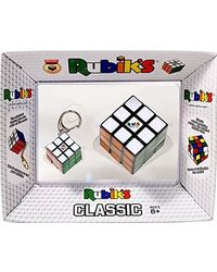 Rubik's Classic with Key Chain, Multi Color