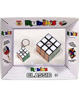 Rubik s Classic with Key Chain, Multi Color