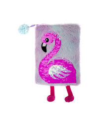Flamingo Plush Notebook, mix