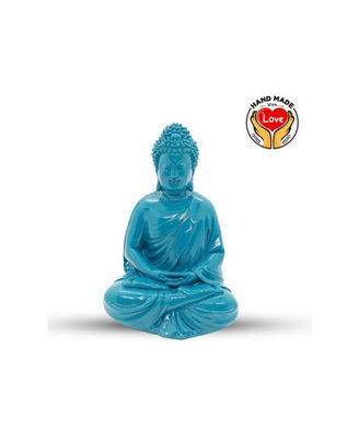 Resin Peacock Blue Buddha