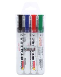 Pb Wb Marker Set - 4 - Bk, Bl, Red, Grn