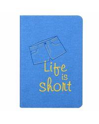 Brief encounters - denim notebook, blue
