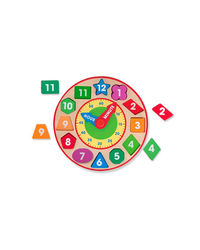 Melissa And Doug Wooden Shape Sorting Clock, Age 3+