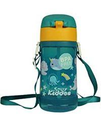 Fancy Narwhale Water Bottle Green