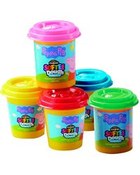 Peppa Pig Softee Dough 5 Pack, Age 3 To 5 Years