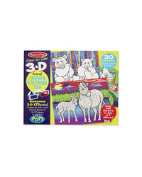 Melissa And Doug Animal 3D Marker Coloring Pad, Age 4+