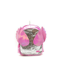 Hamster London Unicorn Wing Shiny Pink Backpack, pink