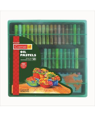Oil Pastel 50-Shades With Reusable Plastic Pack