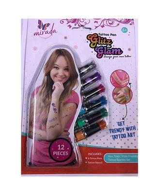 Mirada Tattoo Pens Glitz & Glam, Age 6