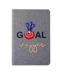 Bull's eye - denim notebook, grey