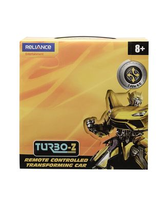 Turbo Z Remote Controlled Changing Robot Car Tt652A, Age 8+