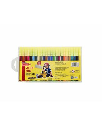 Sketch Pen 24 Shades With Free Stencil