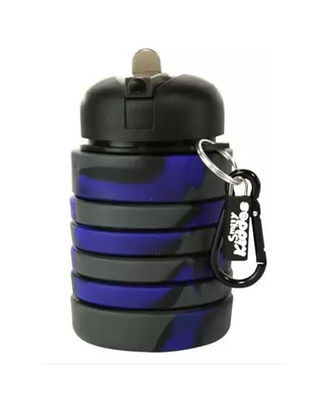 Silicone Expandable And Foldable Water Bottle Black