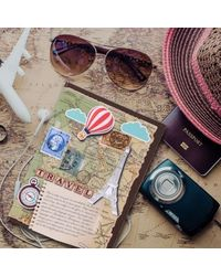 Travelogue Planner Paper, multicolour