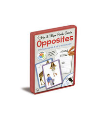 Write & Wipe Flash Cards Opposites, na