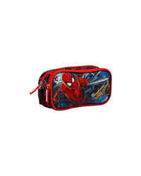 Spiderman Red Double Zip Pouch