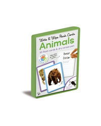 Write & Wipe Flash Cards Animals, na