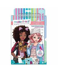 Make It Real Fashion Design Sketch Book Pretty Kitty, Age 6 To 8 Years