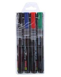 Permanent Marker 4 Pc Set Asort - Black, Blue, Red, Green
