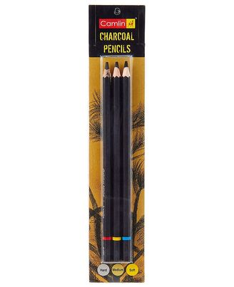 Charcoal Assorted Pencils (Pack Of 3)
