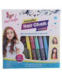 Mirada Metalic Hair Chalk Studio, Age 6 To 8 Years