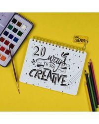 Stay Creative White Notebook, multicolour
