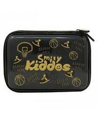 Smily Bling Basket Ball Pencil Case Black