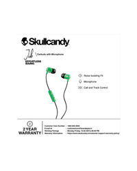 Skullcandy Jib Wired In-Earphone With Mic (Green/Black/Sunset)