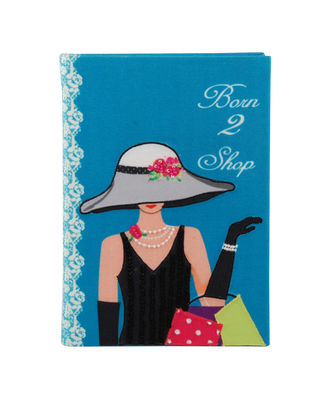 Born To Shop Note Book 8X6 Inch B6
