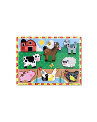 Melissa And Doug Chunky Puzzle Farm Animals, Age 2