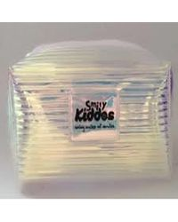 Fancy Transparent Cosmetic Pouch Silver, silver