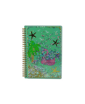 Twinkle Metallic Spiral Notebook Light Blue, blue