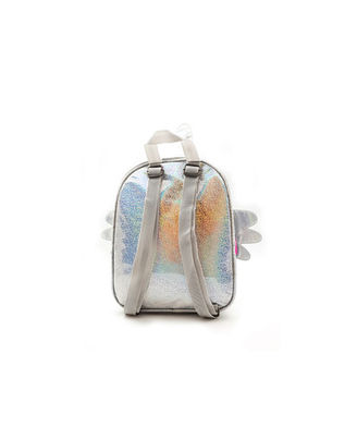 Hamster London Unicorn Wing Shiny Backpack, white