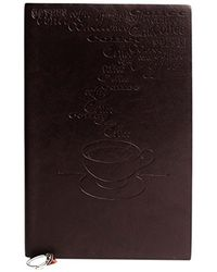 Doodle Coffee Social Diary Notebook - A5, 80GSM, 200 Pages (Tan Brown)